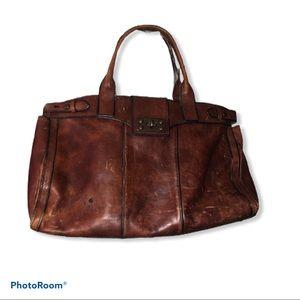 Fossil vintage leather weekender huge bag purse